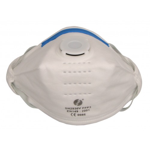 FOLDABLE VALVED DUST MASK