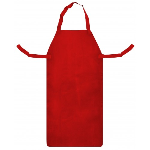 "RED LEATHER APRON & TIES (24"" X 42"")"