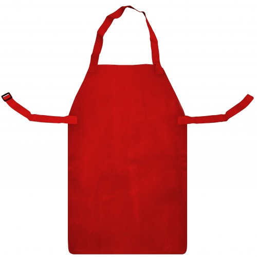 """RED LEATHER APRON & BUCKLE (24"""" X 36"""")"""
