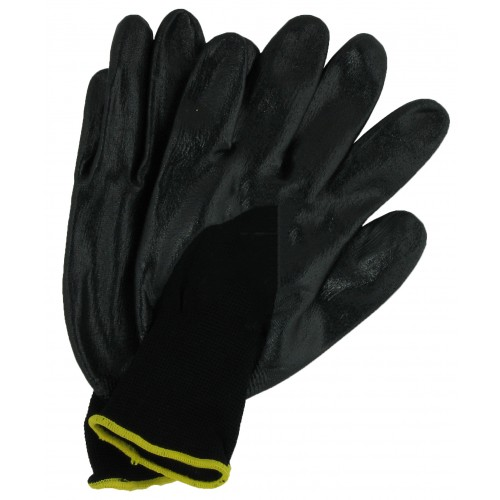 BLACK NITRILE GLOVES