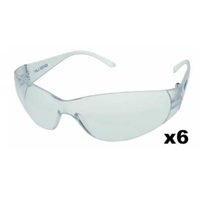 Clear Safety Spectacles - 6 Pack