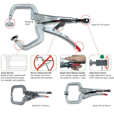 Strong Hand Locking C-Clamps
