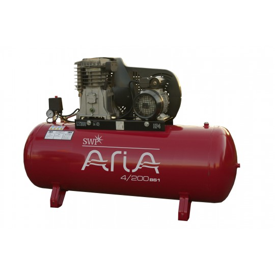 ARIA BELT DRIVEN STATIC COMPRESSOR 200L PHASE 3