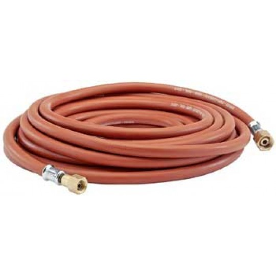 ACETYLENE FITTED HOSE (6MM) 1/4""