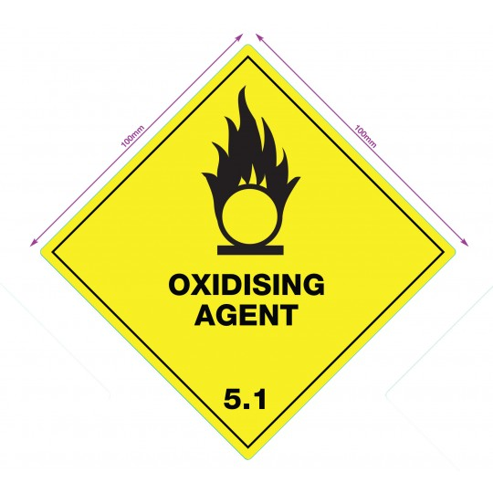 OXIDISING - WARNING DIAMOND