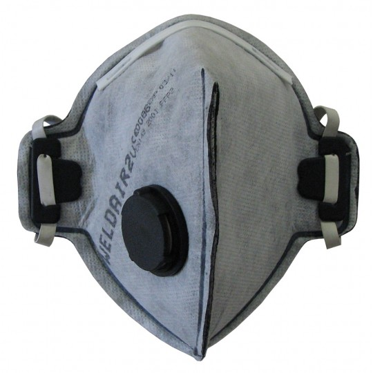 FOLDABLE CARBON/VALVED DUST MASK