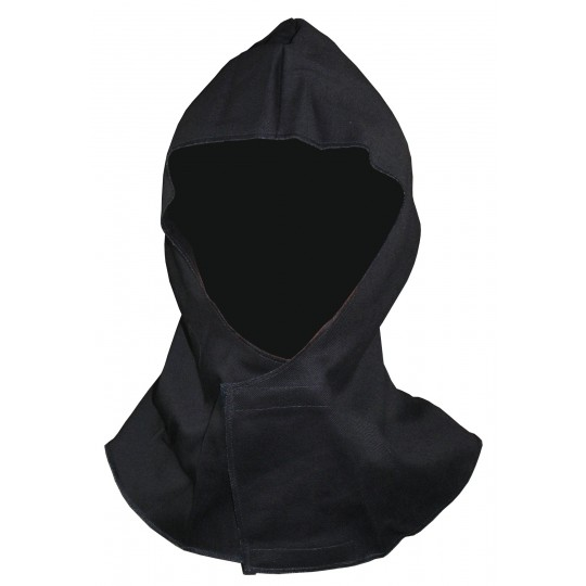 FLAME RETARDANT HOOD WITH VELCRO FASTENING
