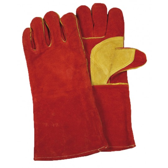 WELDERS GAUNTLET GLOVES - RED