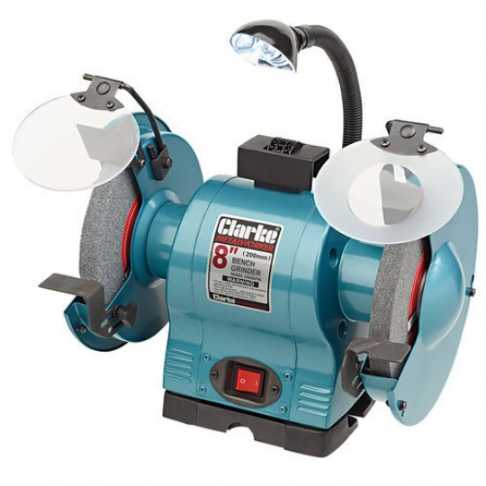 "8"" BENCH GRINDER WITH LAMP (230V)"