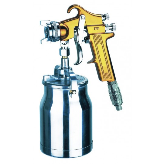 SUCTION FED SPRAY GUN C/W REGULATOR